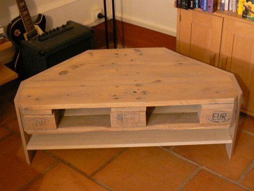 Fabriquer meuble d'angle tv