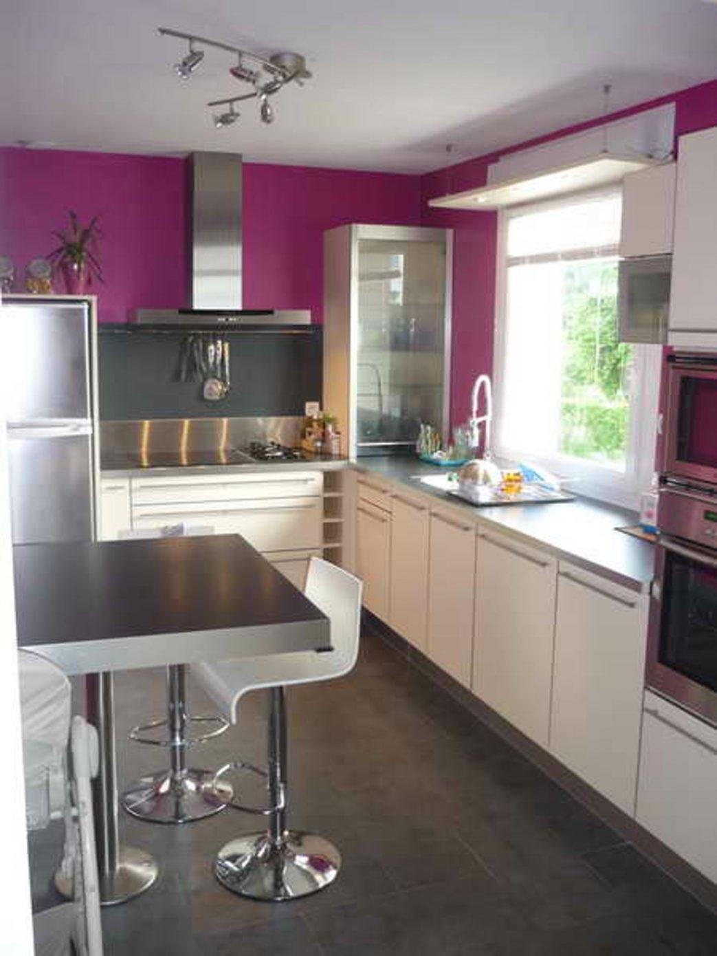 Couleur peinture cuisine meuble gris