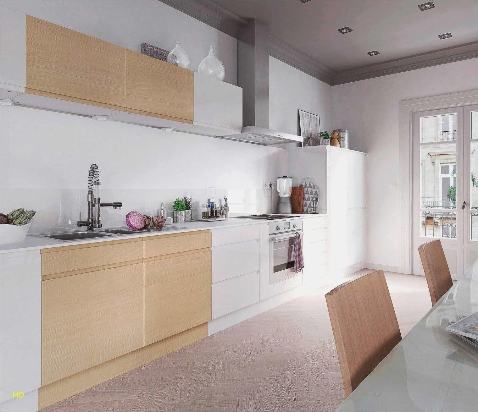 Idee deco cuisine blanche et bois
