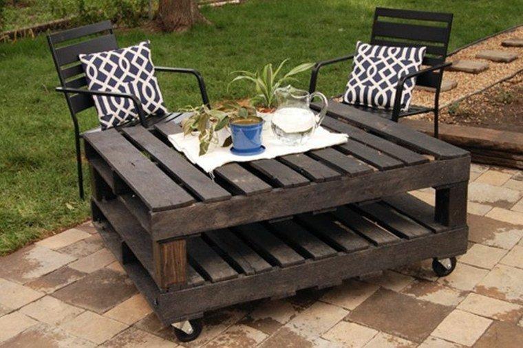 Table basse salon de jardin palette