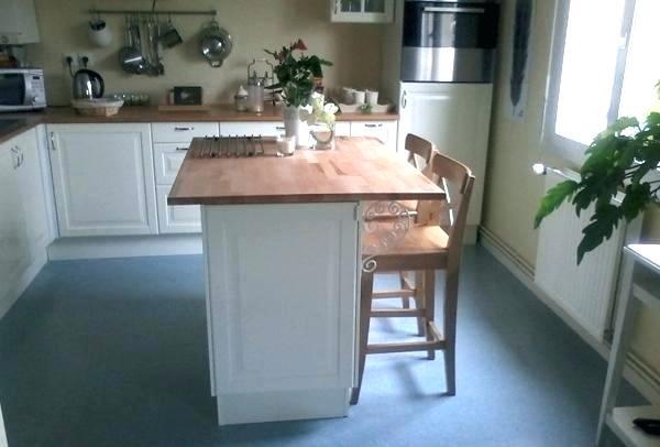 plan de travail pour ilot central cuisine ikea. Black Bedroom Furniture Sets. Home Design Ideas