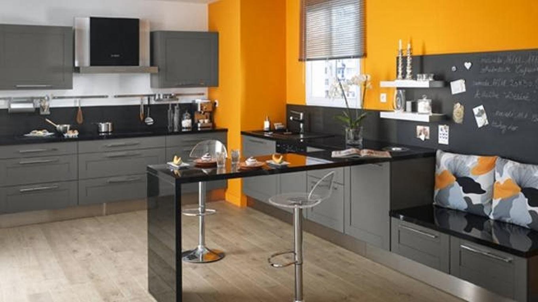Deco cuisine noir et jaune - tendancesdesign.fr