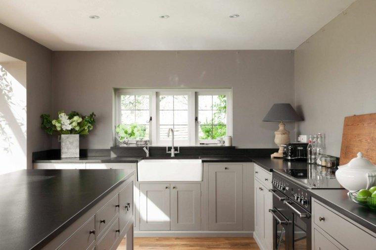 Stunning Cuisine Gris Perle Et Anthracite Pictures - House Design ...