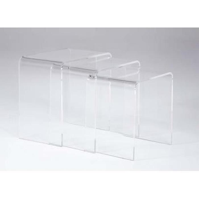 Table basse gigogne acrylique