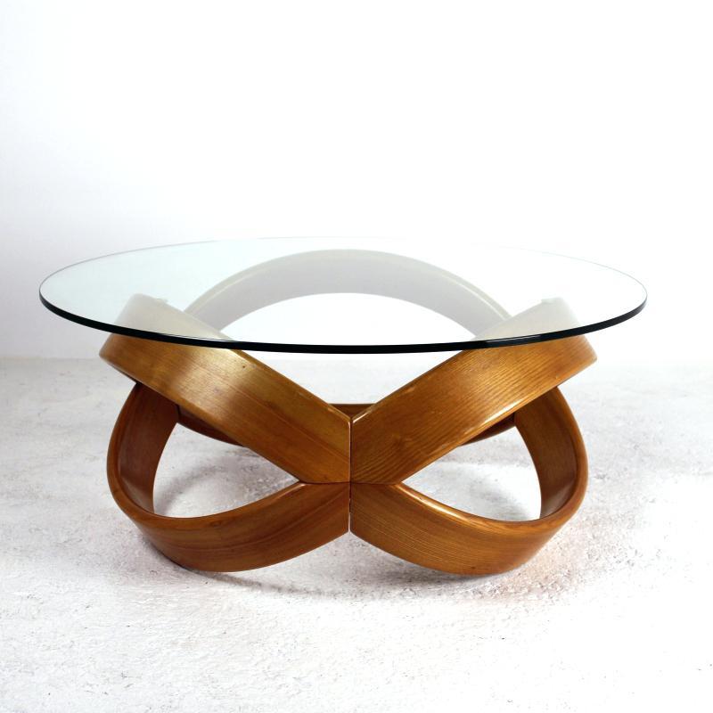 Table Basse En Verre Avec Pied En Bois Tendancesdesign Fr