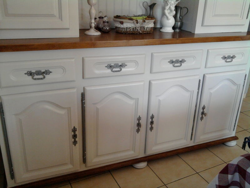 meuble de cuisine en bois ancien. Black Bedroom Furniture Sets. Home Design Ideas