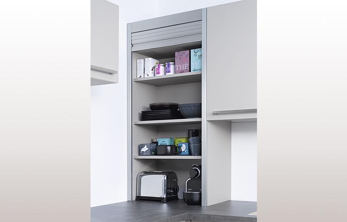meuble haut cuisine avec rideau coulissant - tendancesdesign.fr