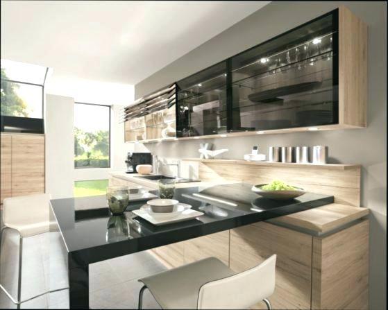 Meuble haut cuisine vitré noir
