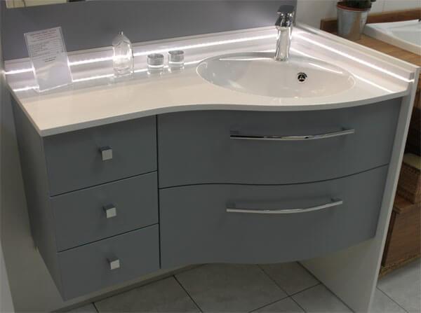 Meuble dangle vasque salle de bain