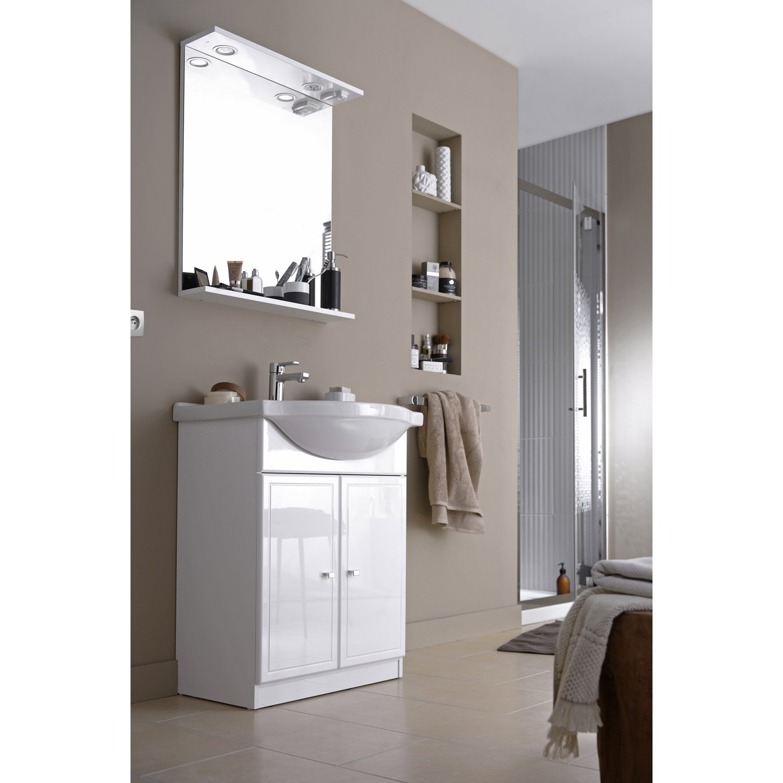 Meuble haut salle de bain avec miroir leroy merlin - tendancesdesign.fr