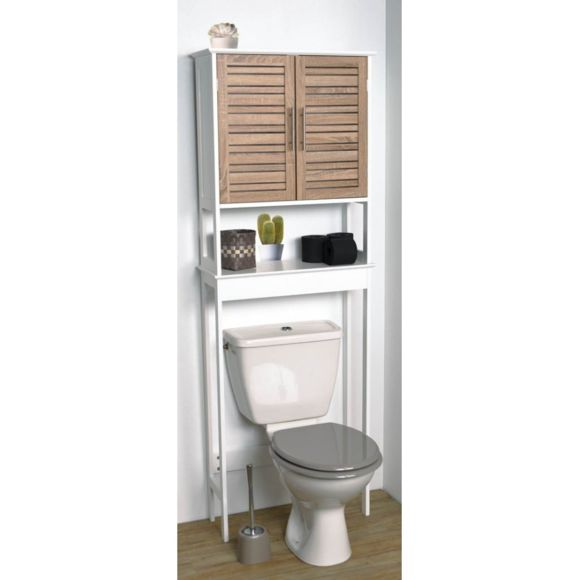 Meuble dessus wc bambou
