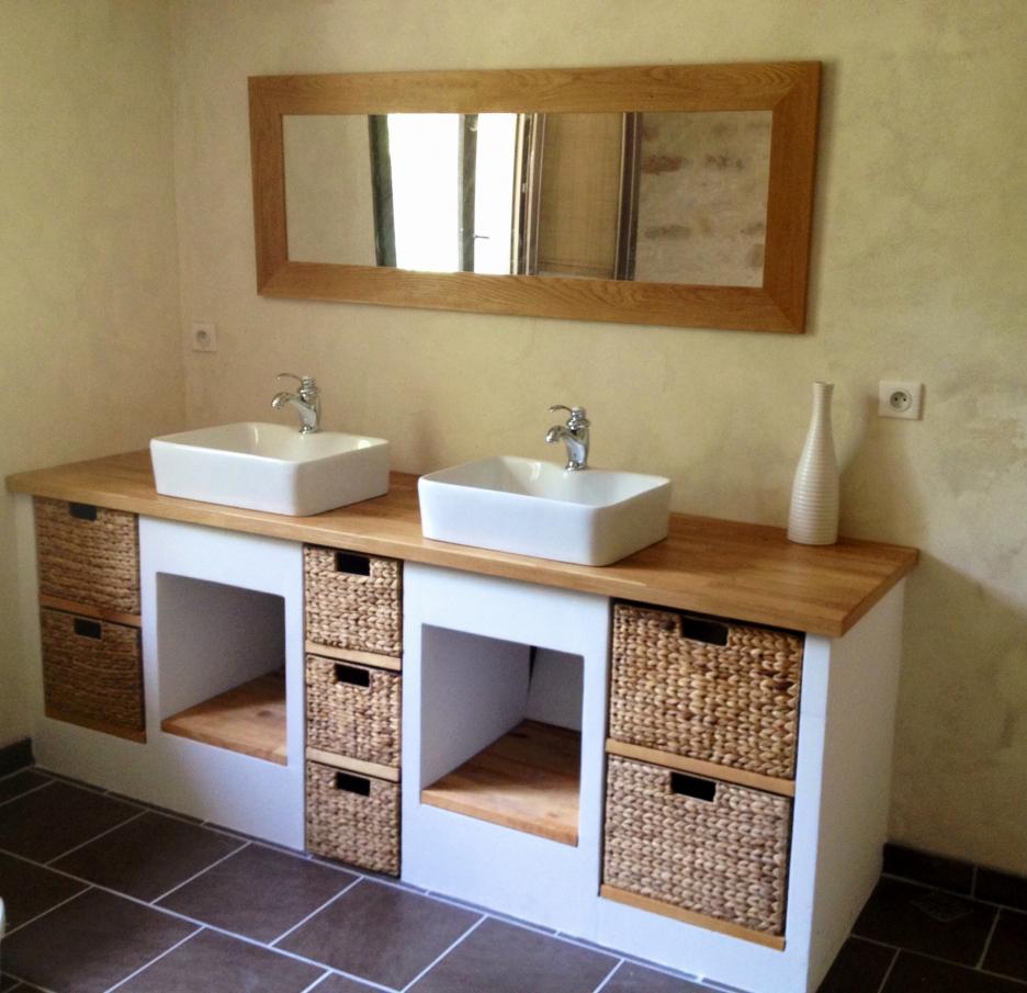 Plan de travail salle de bain 90 cm