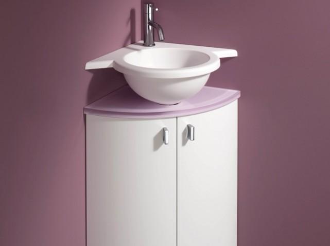 Meuble d'angle sous vasque lave main