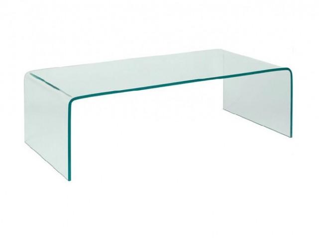 Table basse en verre vague