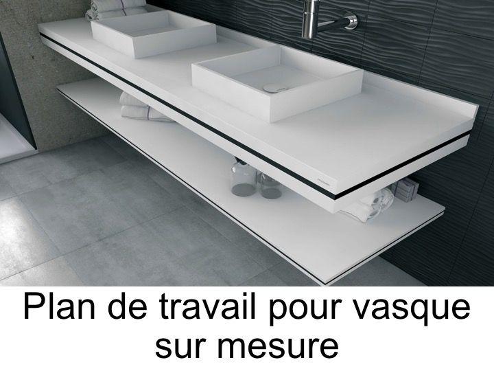 Plan de travail salle de bain profondeur