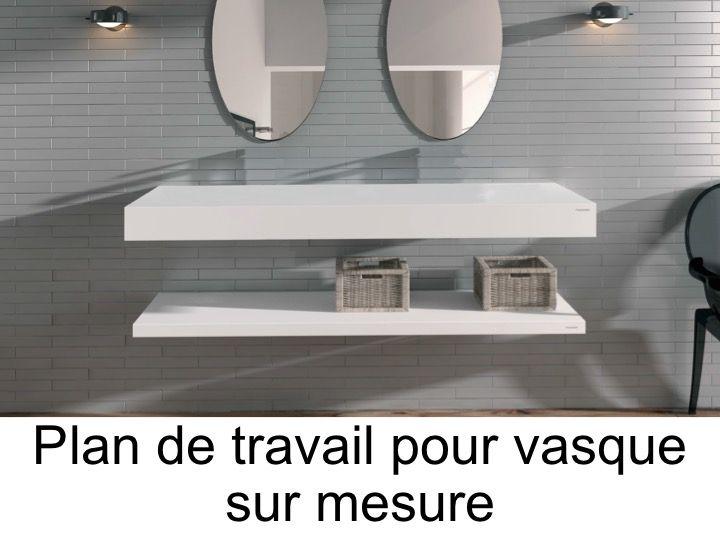 Fixer un plan de travail dans une salle de bain