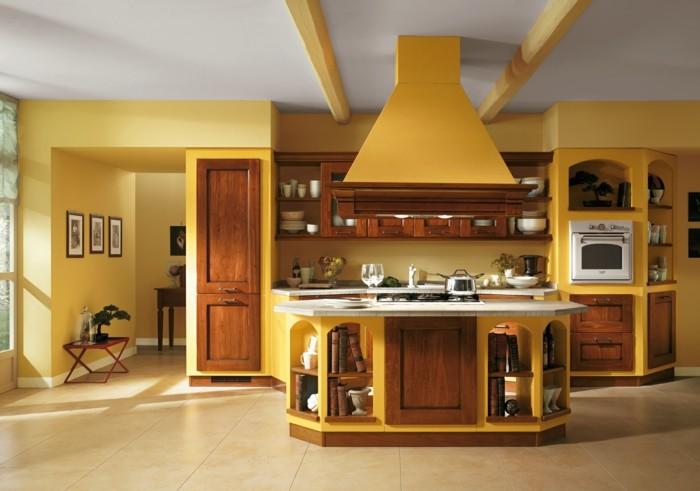Modele de cuisine en bois peint