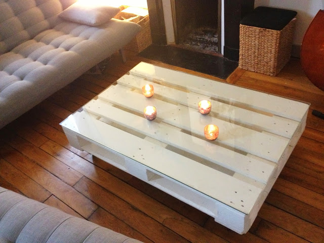 Table basse palette taille