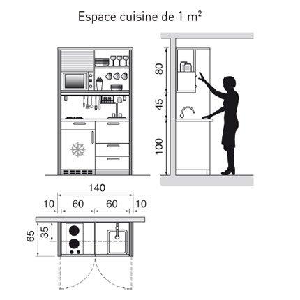 Plan petite cuisine en l