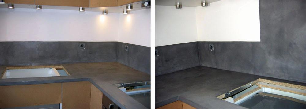 Le beton cire pour plan de travail