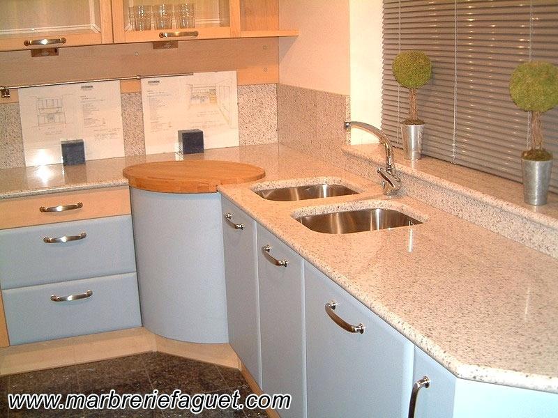 Table de travail cuisine en granit