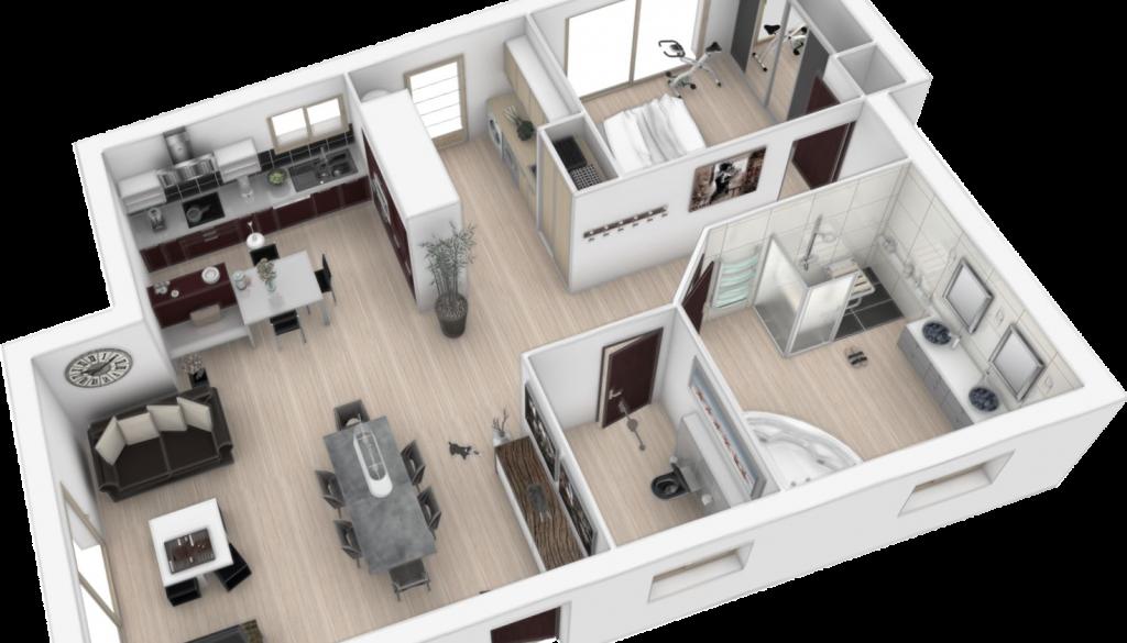 comment faire plan cuisine 3d. Black Bedroom Furniture Sets. Home Design Ideas