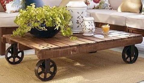 Table Avec Palette Sur Roulettes table basse palette roulette - tendancesdesign.fr