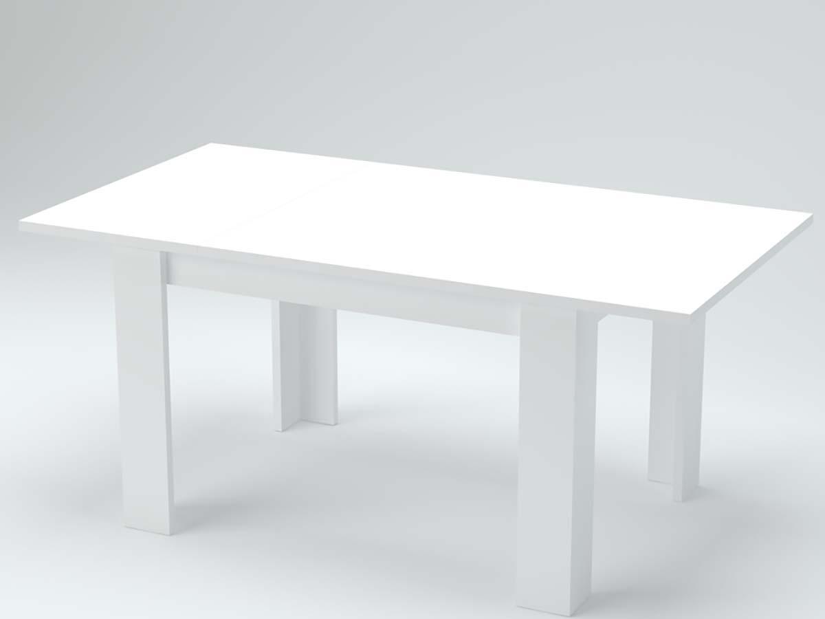 upper table basse relevable et extensible laquée blanche