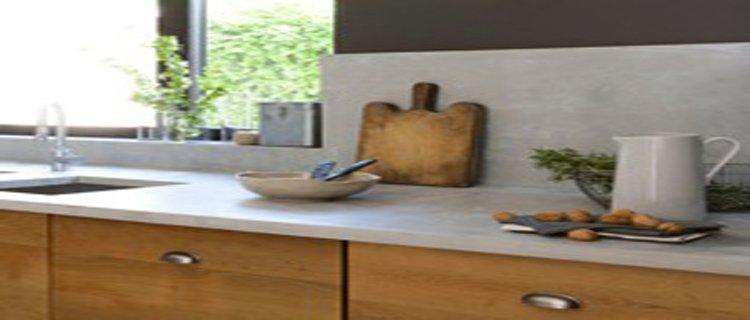 peinture plan de travail effet beton cire. Black Bedroom Furniture Sets. Home Design Ideas