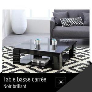Manhattan table basse carrée noir