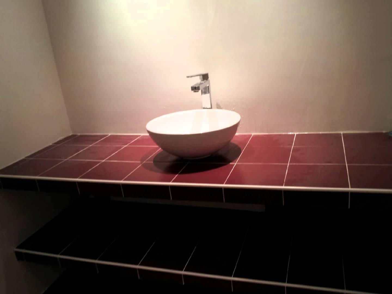 plan de travail salle de bain anthracite. Black Bedroom Furniture Sets. Home Design Ideas