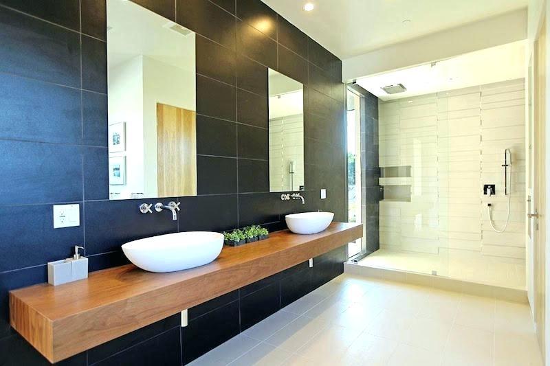 Plan de travail salle de bain vert