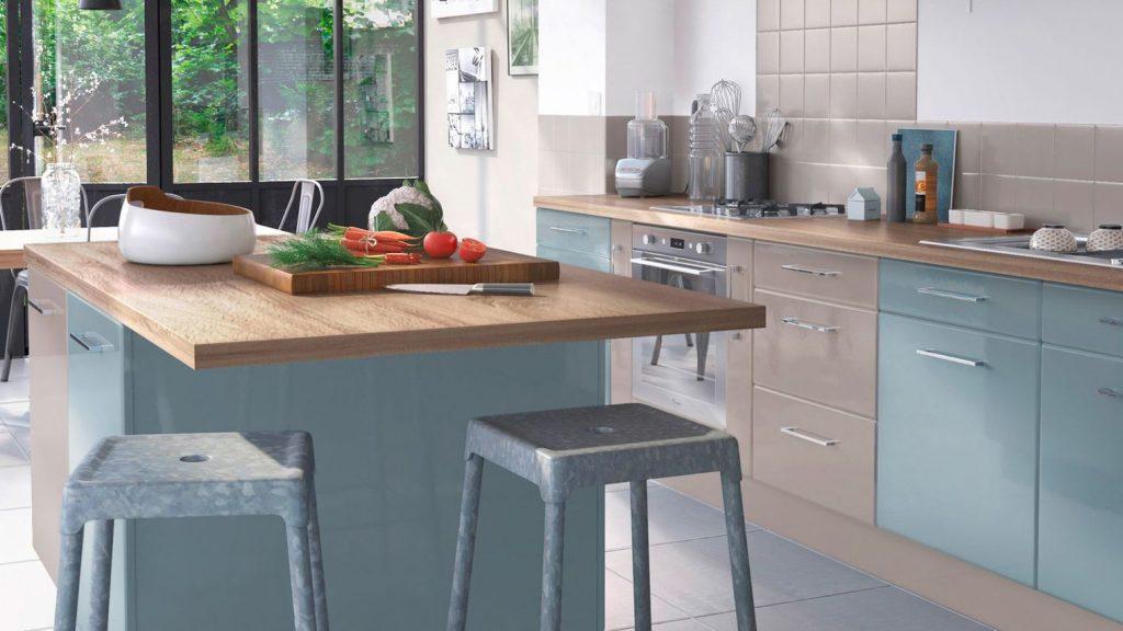 plan de travail pour ilot central castorama. Black Bedroom Furniture Sets. Home Design Ideas
