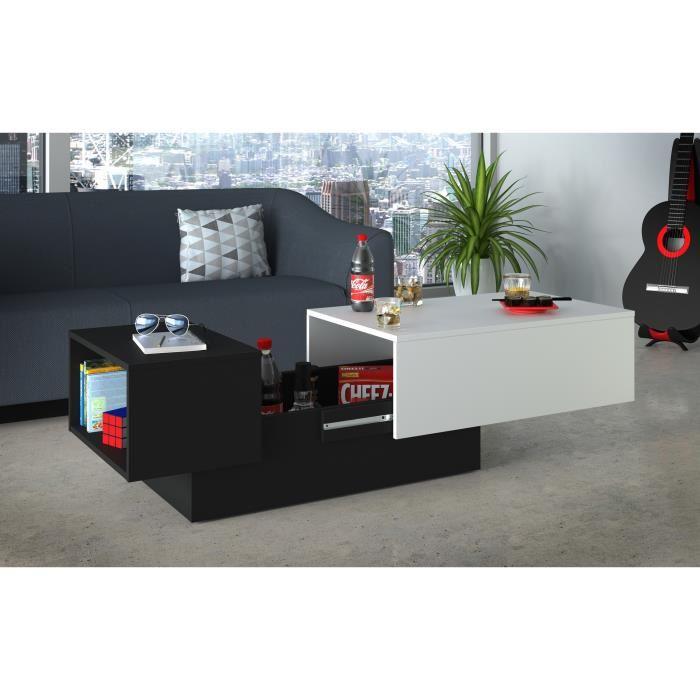 Table basse contemporaine avec rangement