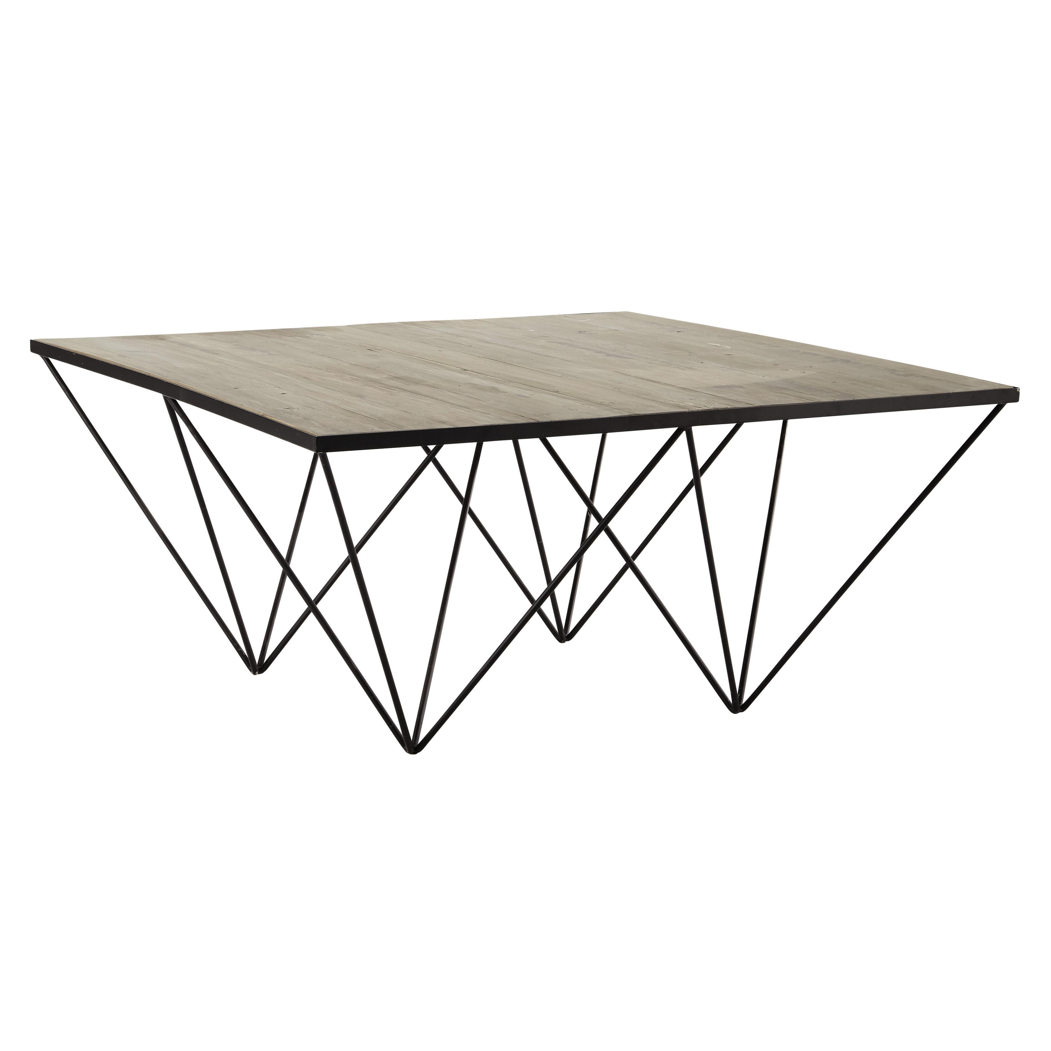 Table basse carrée haute