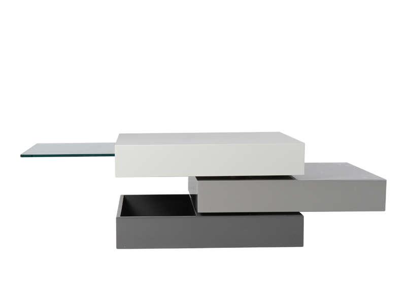Table basse carrée grise