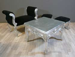 Table basse en verre baroque