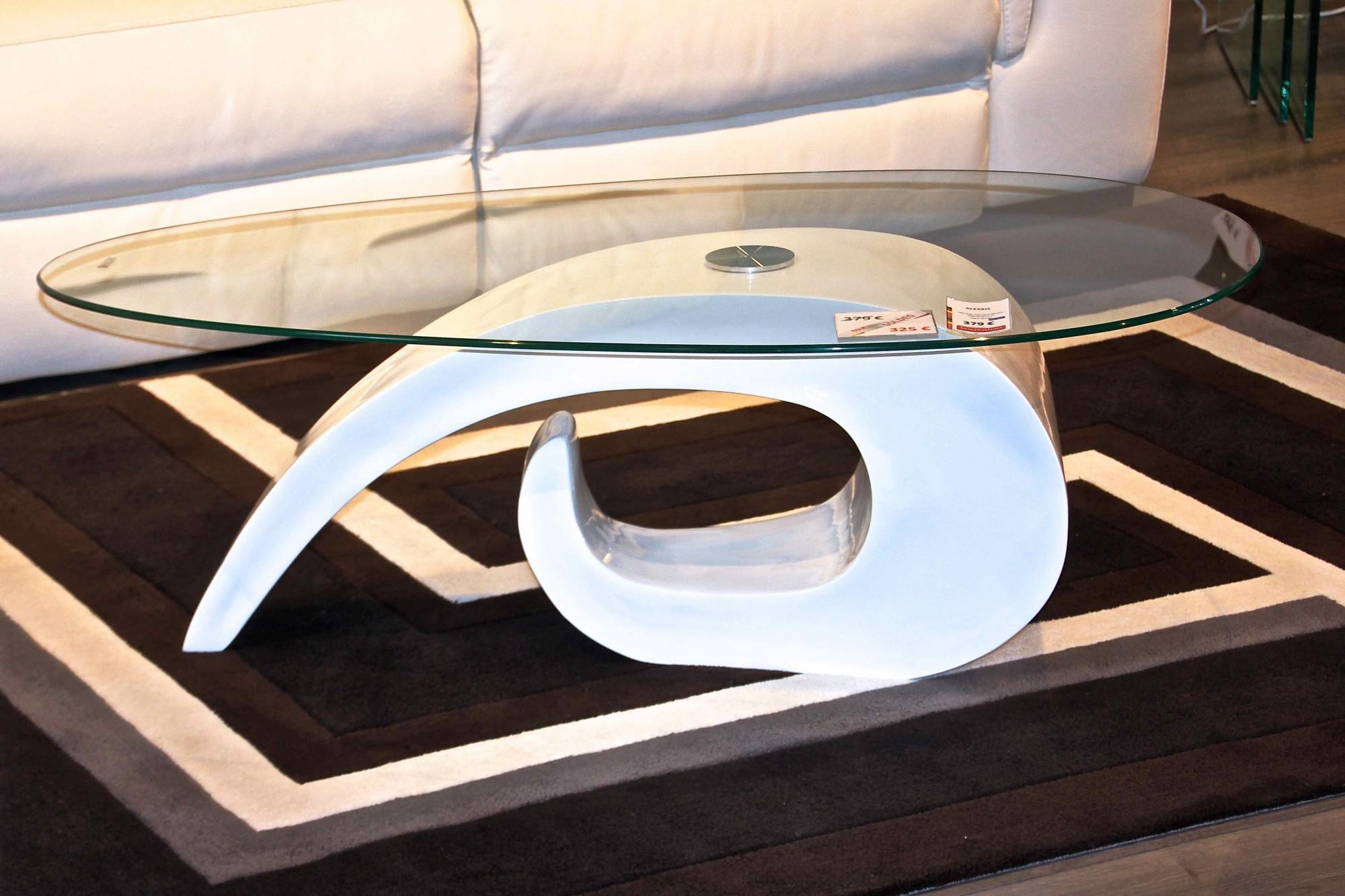 Table basse design pas cher verre