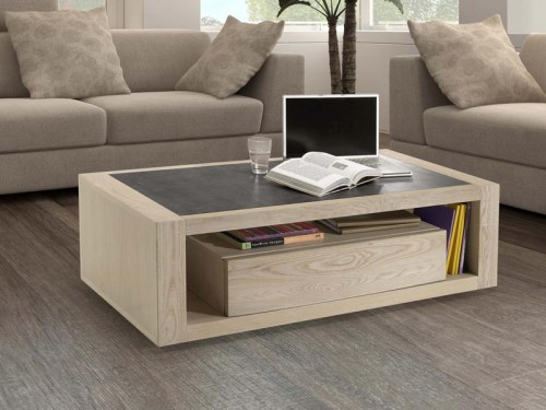 Table basse design plateau ceramique