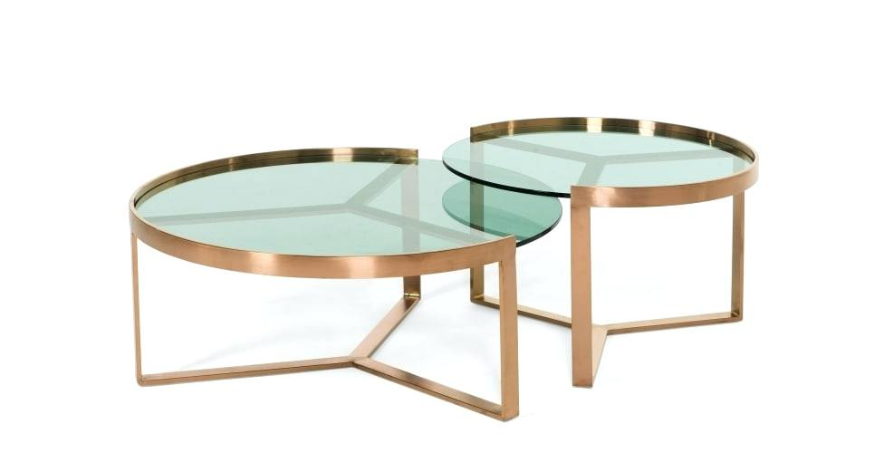 Table Basse Gigogne Ronde En Verre Tendancesdesignfr
