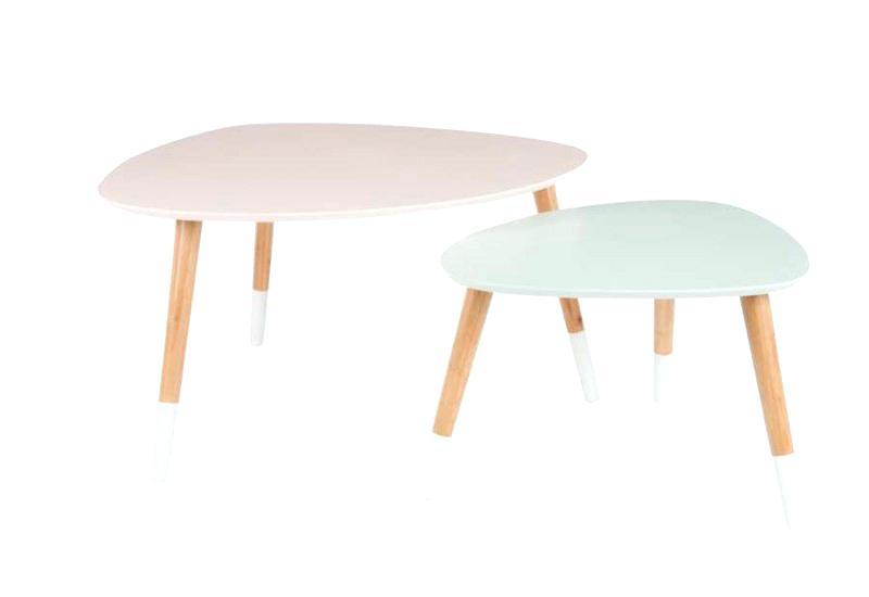 table basse gigogne vintage scandinave. Black Bedroom Furniture Sets. Home Design Ideas