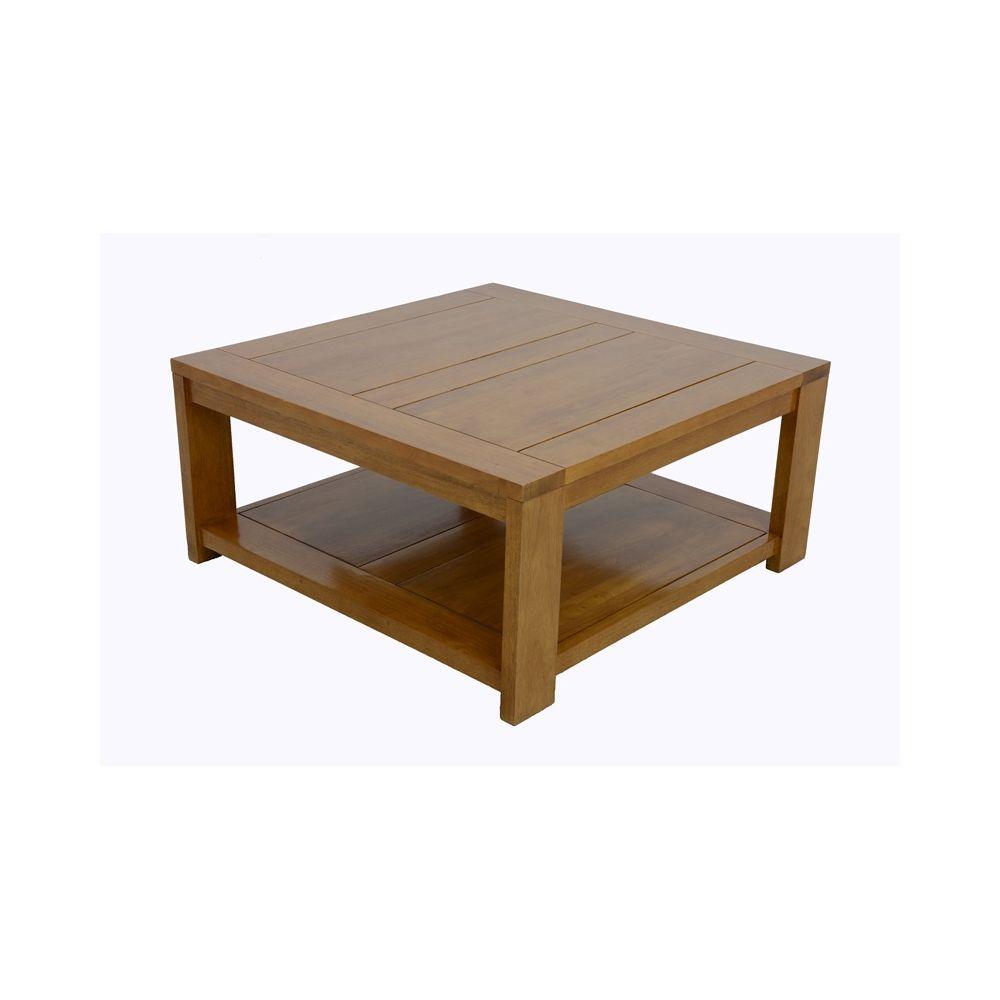 Table basse carrée olga avec plateau en verre