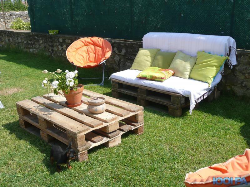 Table basse palette jardin - tendancesdesign.fr