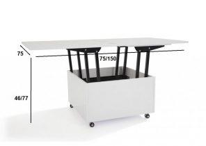 Table basse relevable super u
