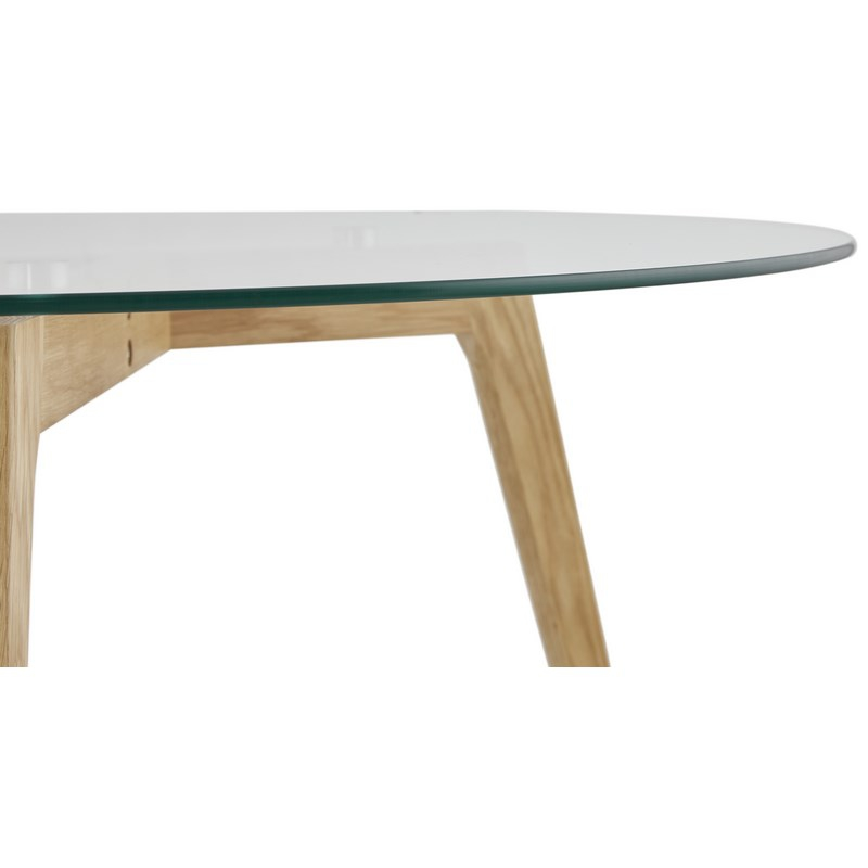 Table basse scandinave en verre