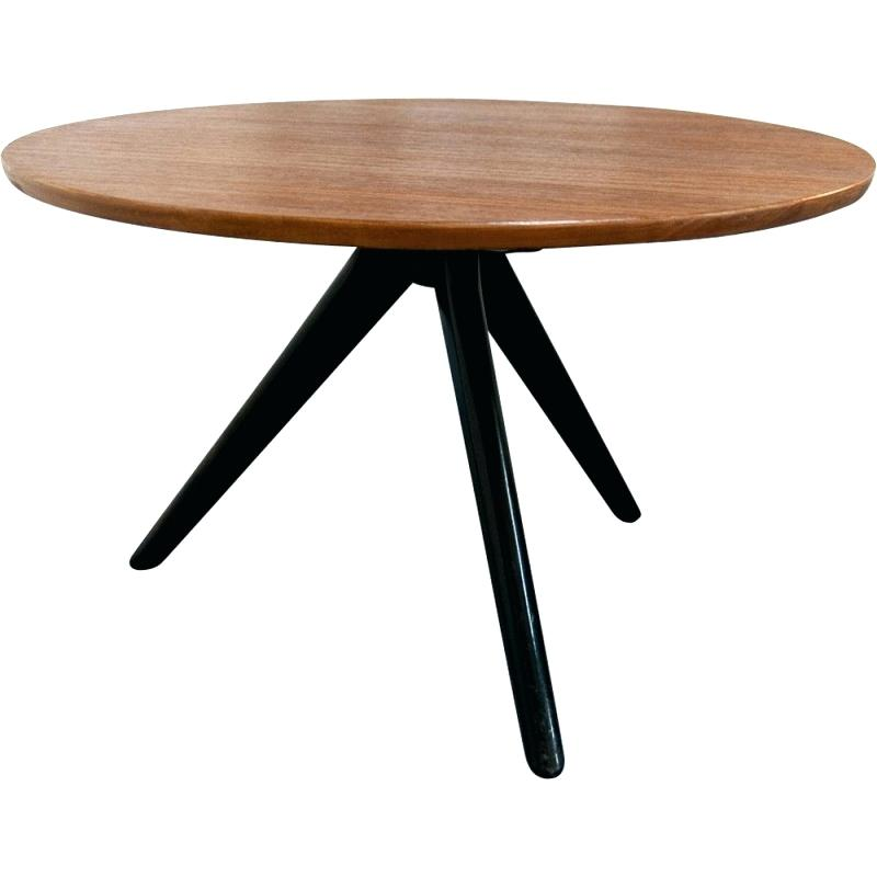 Table basse ronde cocktail scandinave