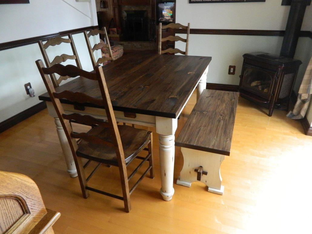 Table de cuisine en bois sur mesure