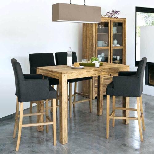 Table de cuisine haute carrée