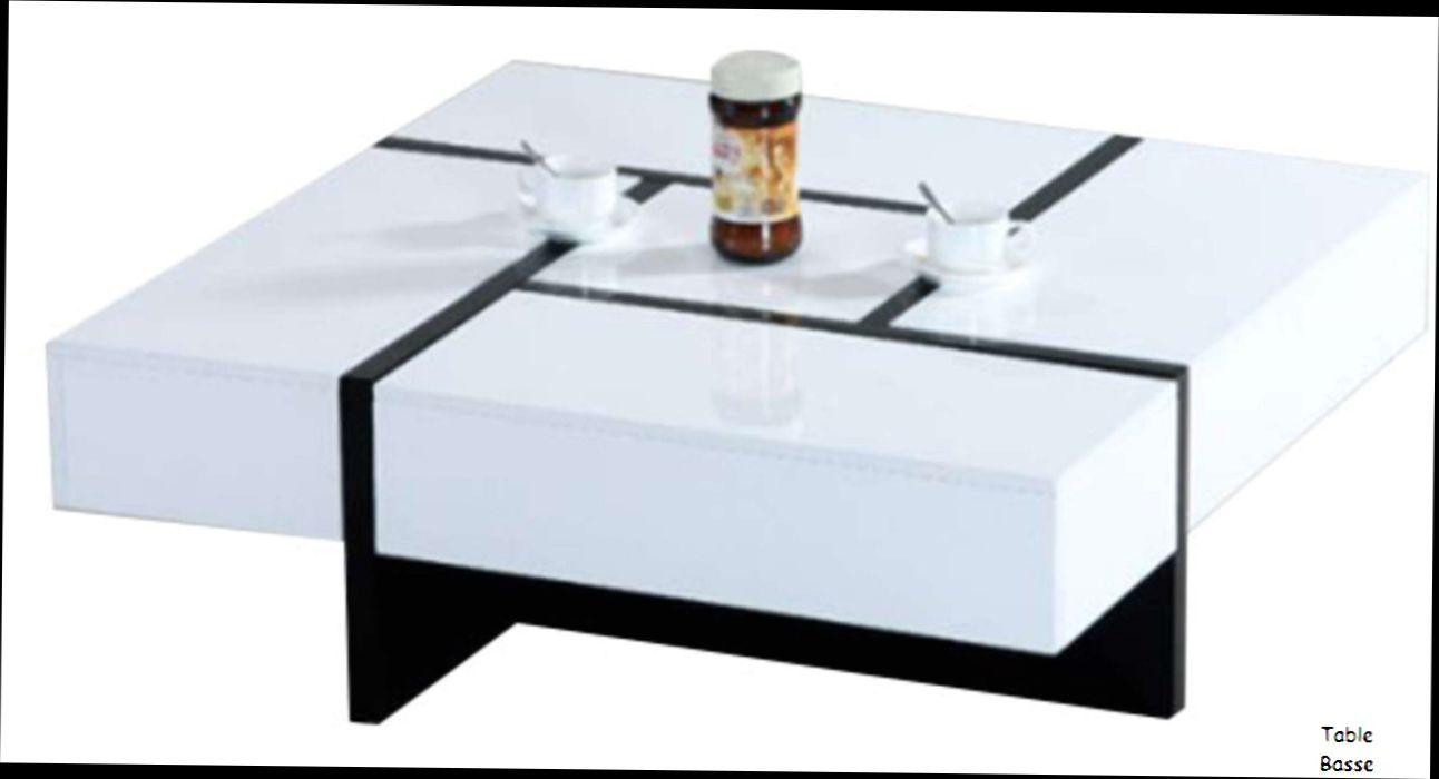 Table basse conforama blanc laque