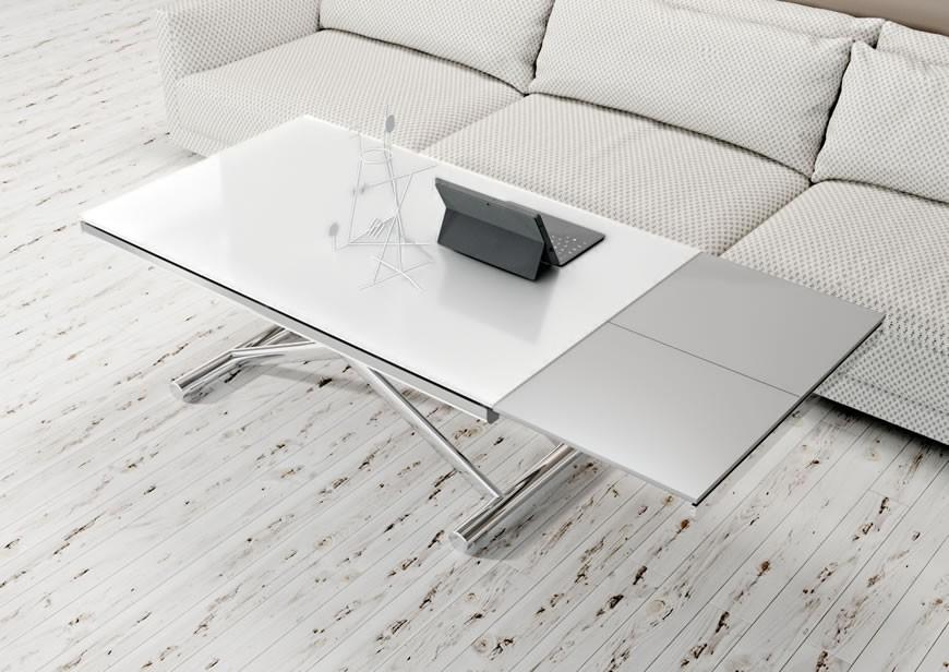 Table basse relevable avec verin